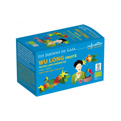 Wu Long (Oolong), příchuť lotos a liči, BIO, Fair trade