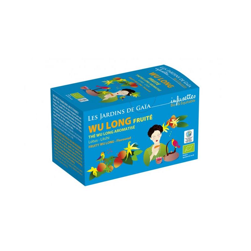 Wu Long (Oolong), příchuť lotos a liči, BIO, Fair trade